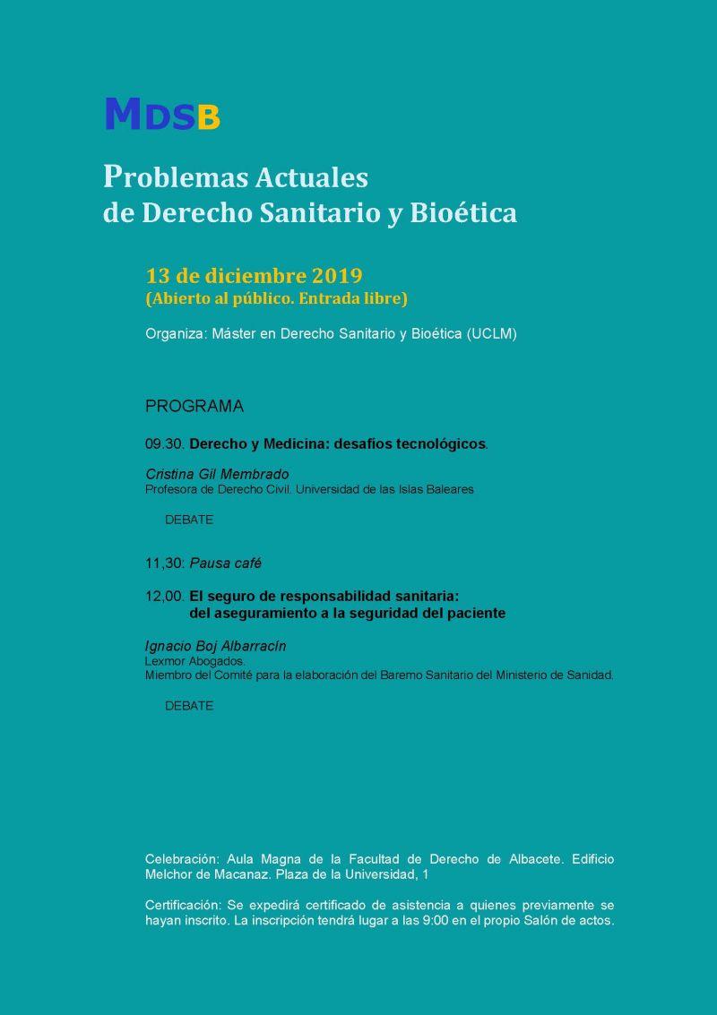 Problemas Actuales de Derecho Sanitario y Bioetica